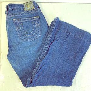 True Religion Women's Jeans Size 31 flare bottom